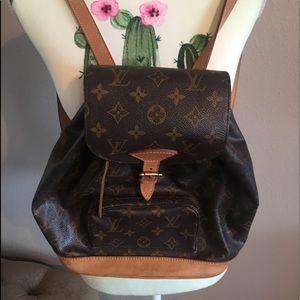 "Louis Vuitton ""Little"" Signature Print Backpack"